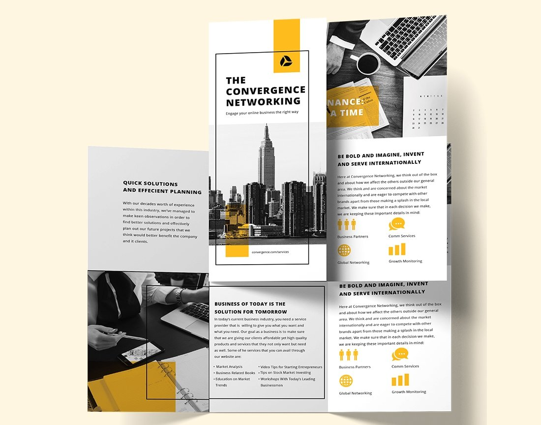 Free-Business-Marketing-Brochure-Template 20+ Best Company Profile Templates (Word + PowerPoint) design tips  Inspiration|company profile