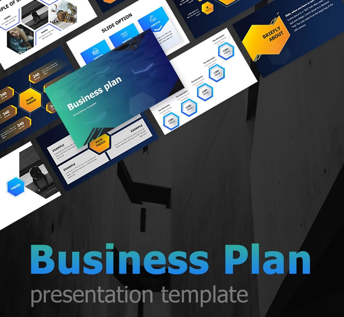 Free-Business-Plan-PowerPoint-Template 30+ Best Business & Corporate PowerPoint Templates 2021 design tips