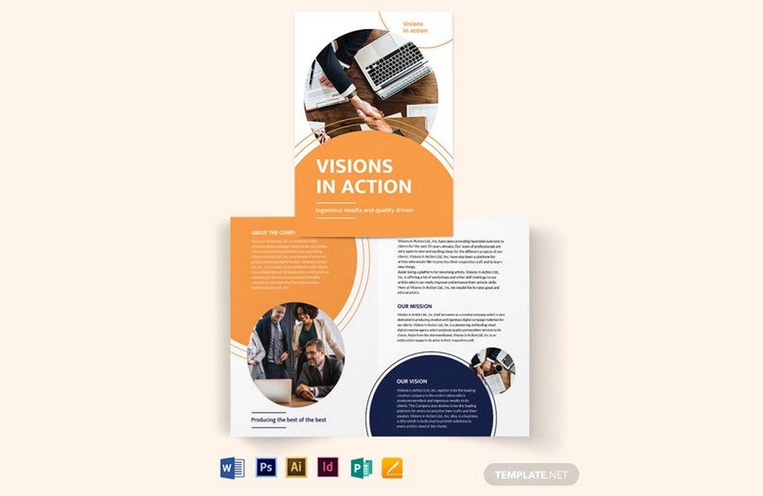 Free Business Proposal Bi-Fold Brochure Template
