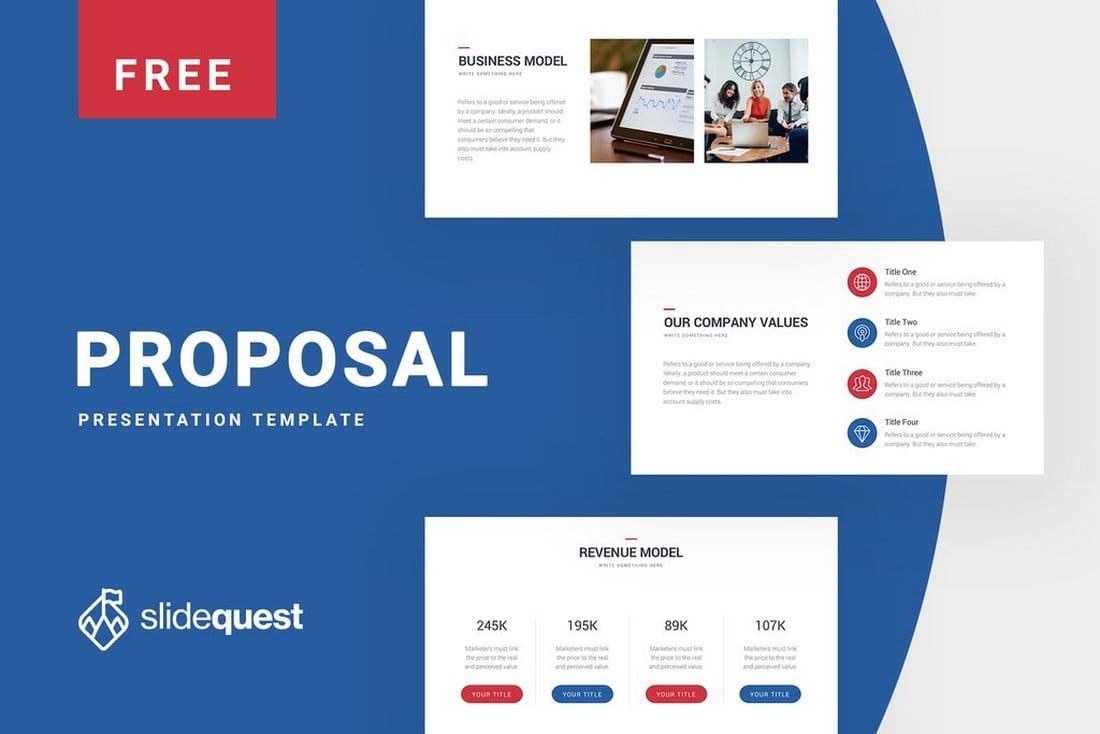Free Business Proposal - Keynote Presentation Template
