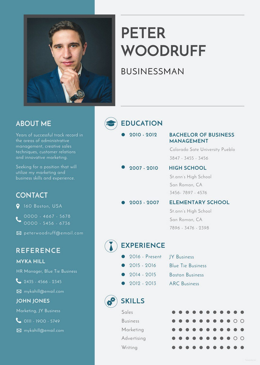 Free-Business-Resume-Template 20+ Best Pages Resume & CV Templates design tips