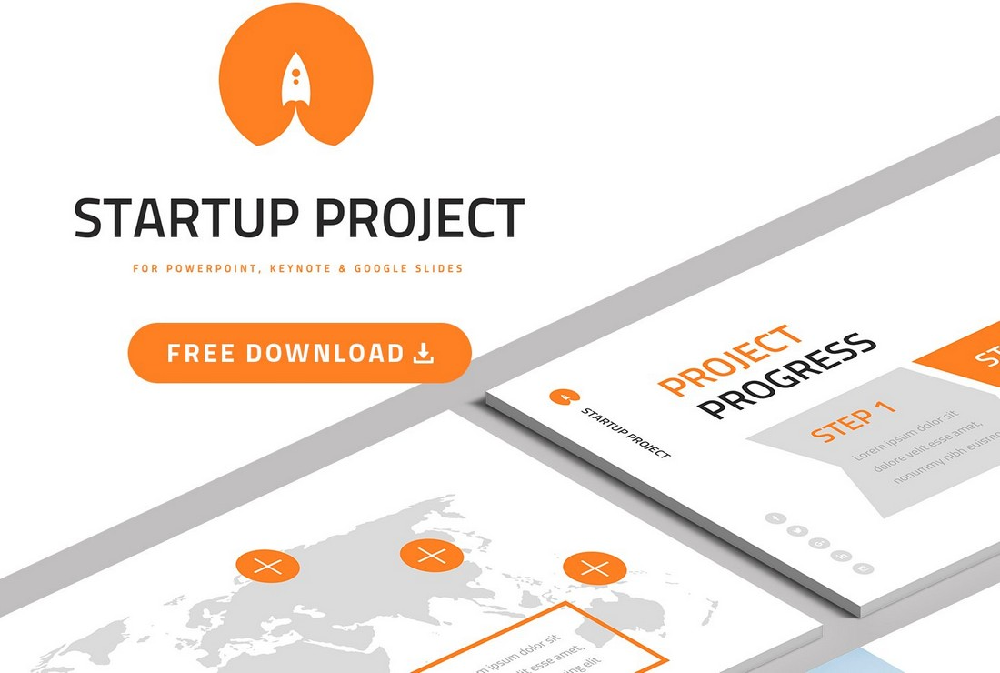 Free Business Startup Presentation PPT Template