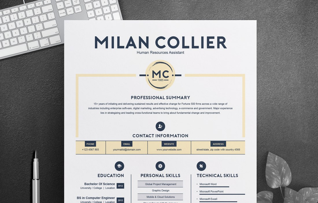 Free CV Resume Template for Creatives