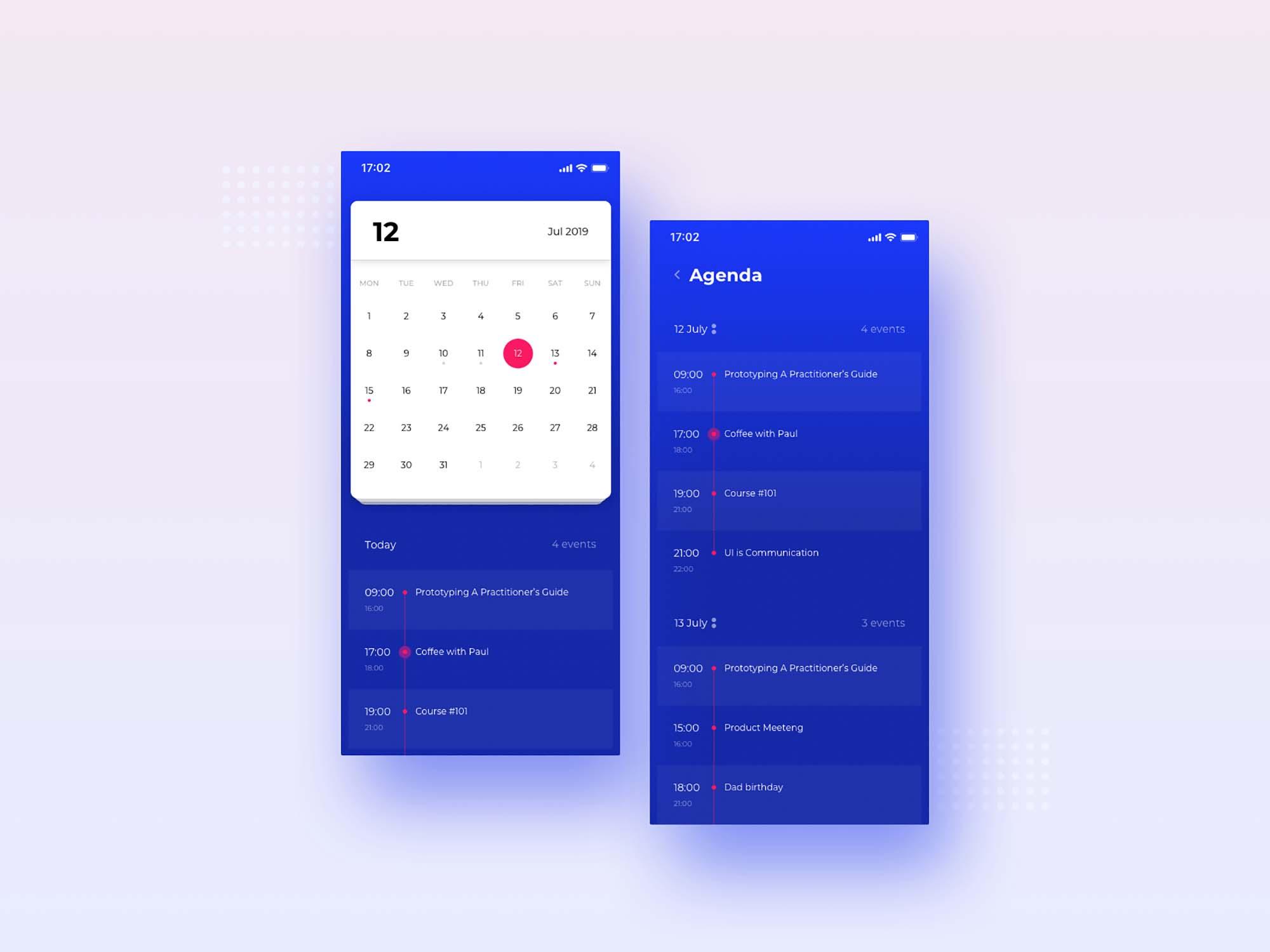 Free Calendar UI Template