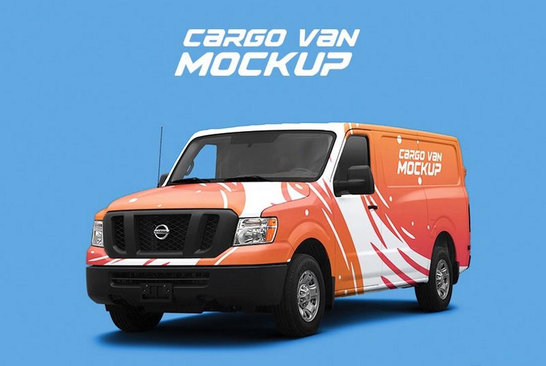 Free Cargo Van Wrap Mockup