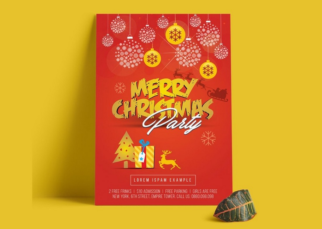 Free Christmas Flyer & Poster Template
