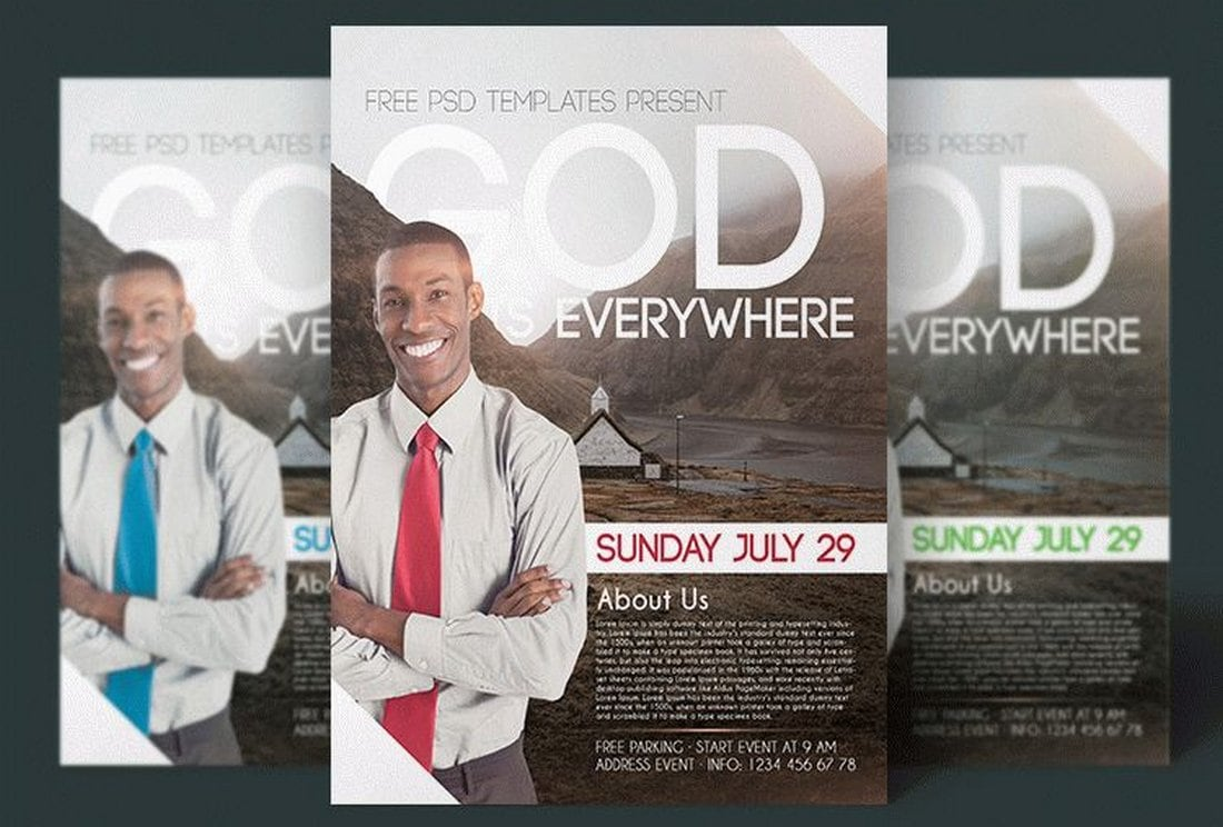 Free Church Flyer Template PSD