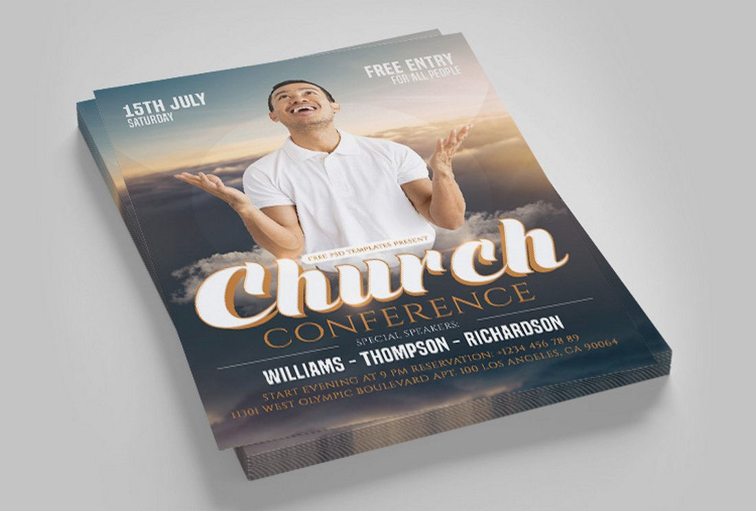 Free Church Sermon Flyer Template