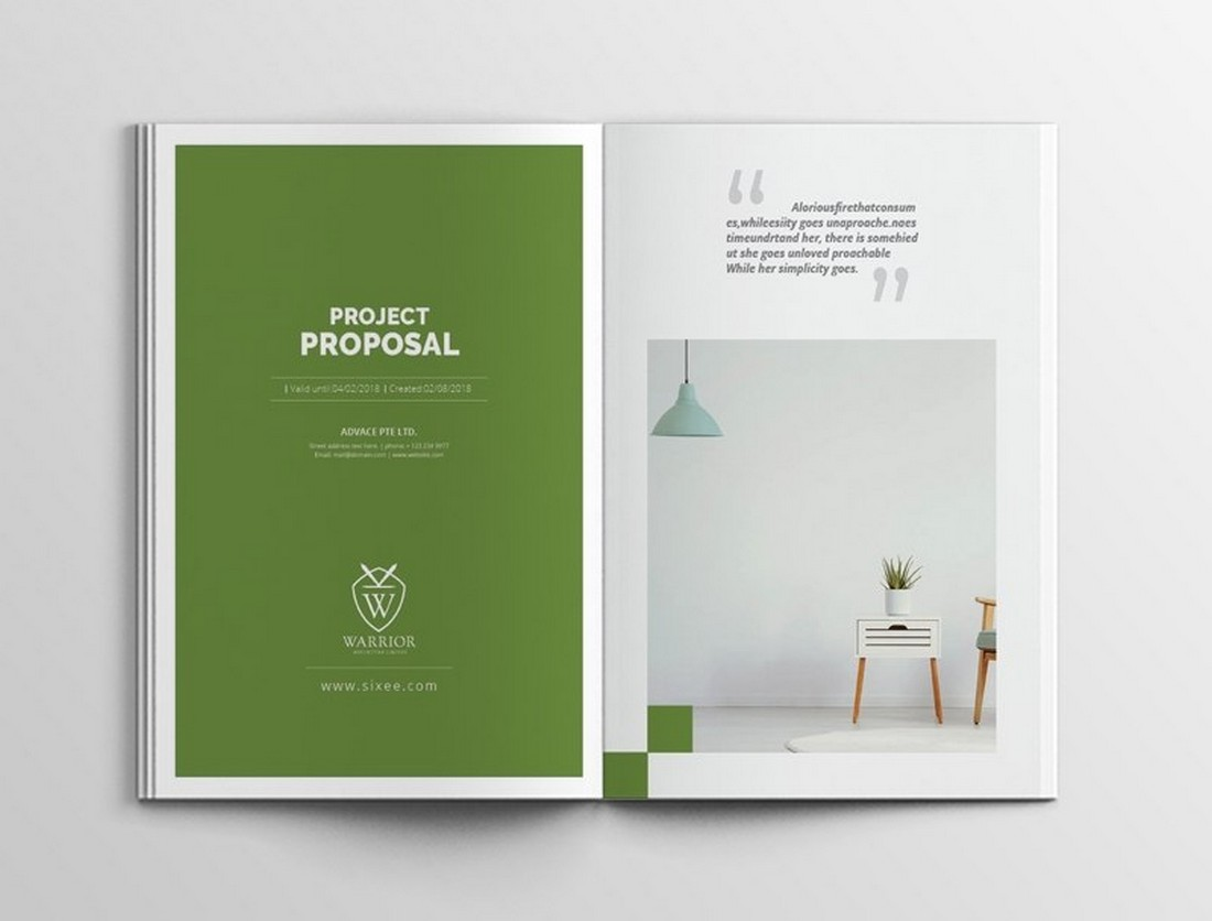 Free Clean Proposal Brochure Template