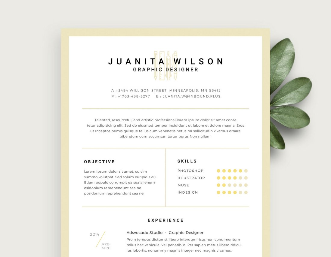 Free-Clean-Resume-Template-PSD 50+ Best CV & Resume Templates 2020 design tips
