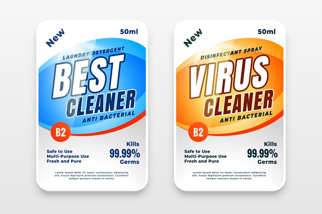 Free Cleaning Product Packaging Template