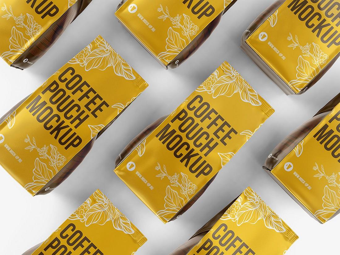 Free Coffee Packaging Mockup Template