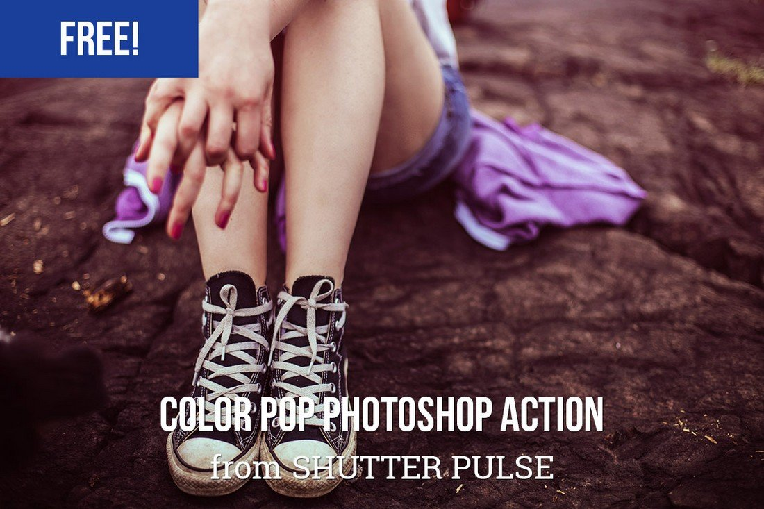 Free-Color-Pop-Photoshop-Action-2 50+ Best Photoshop Actions of 2020 design tips  Inspiration|actions|photoshop