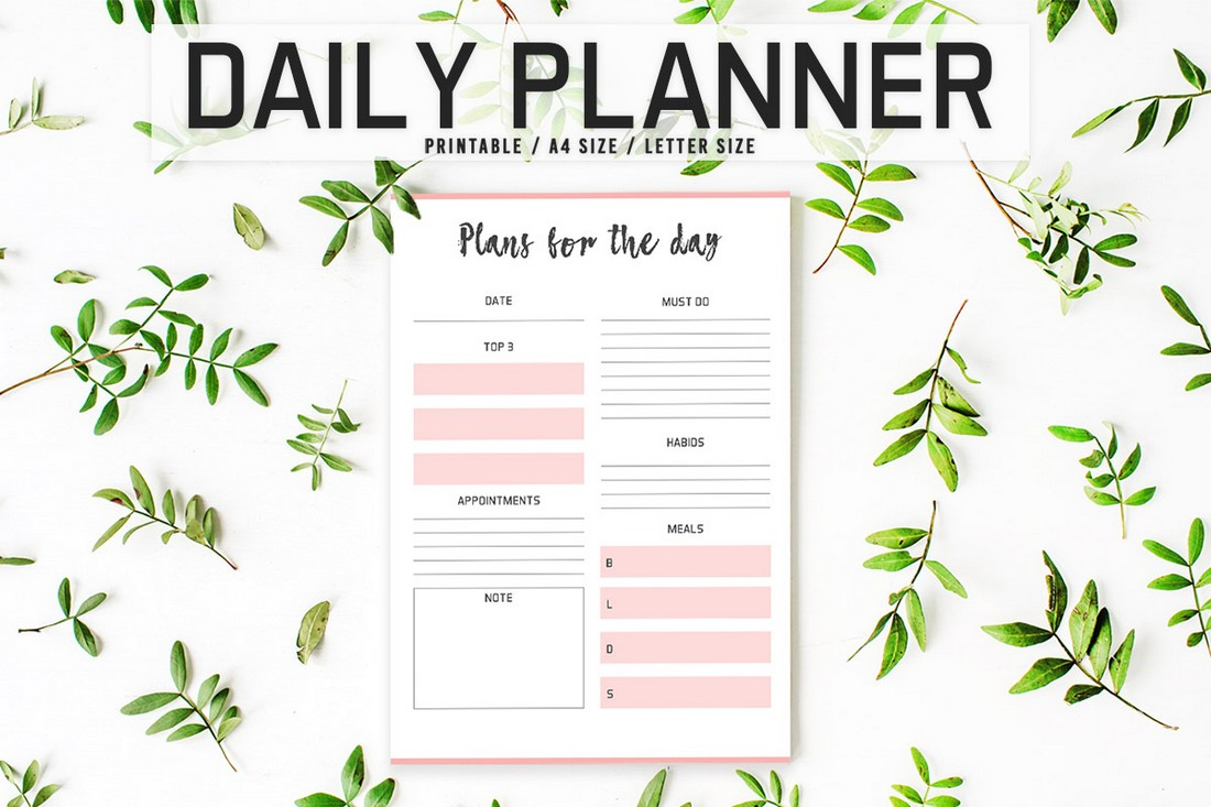 Free Colorful Daily Planner Printable Template