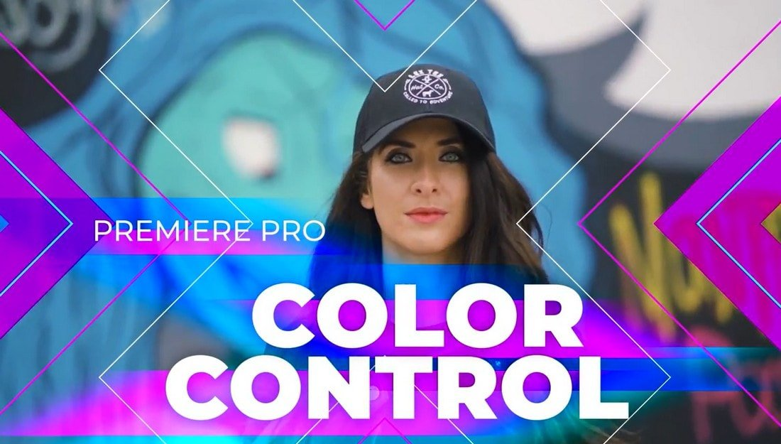 Free Colorful Fullscreen Premiere Pro Titles