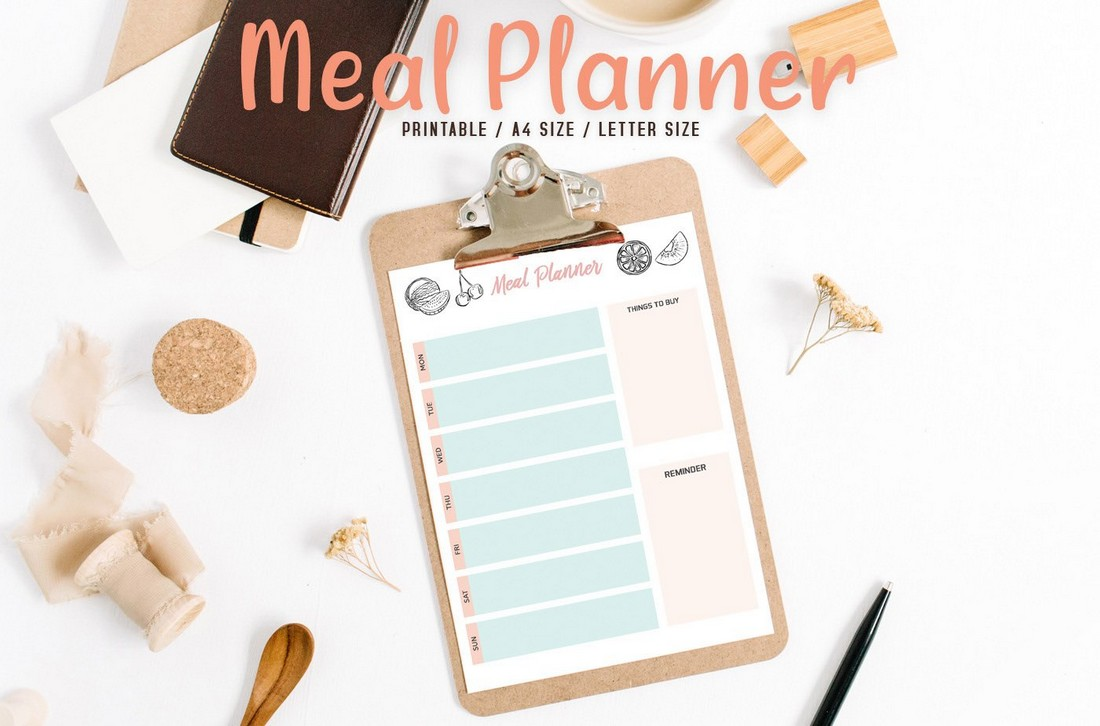 Free Colorful Meal Planner Printable Template