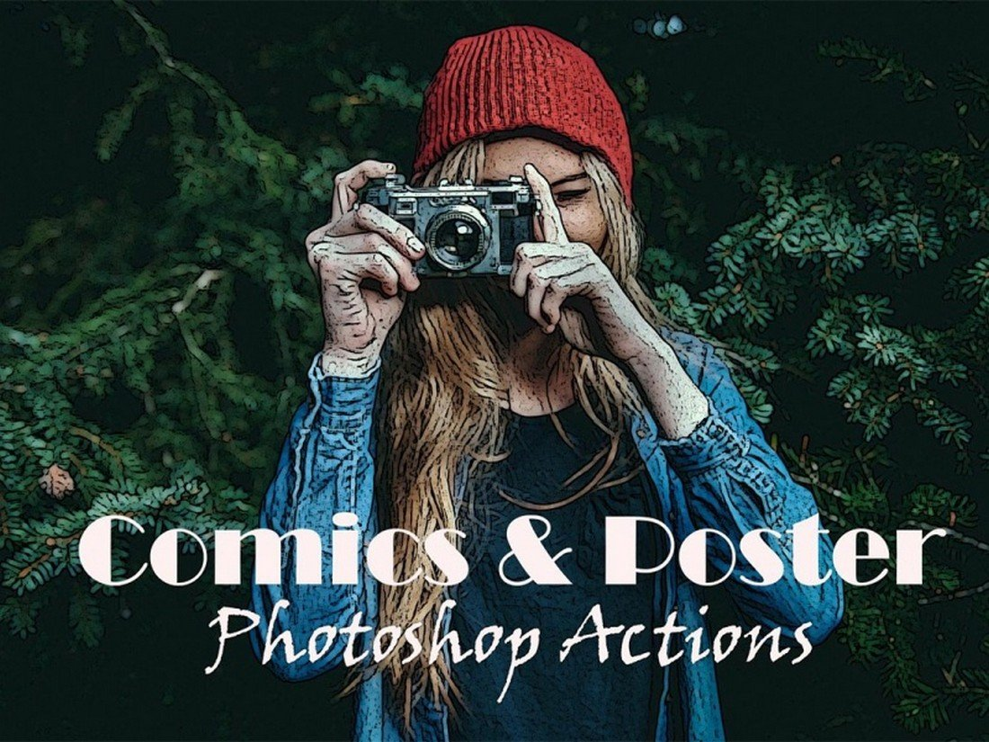 Free Comic Poster Photoshop Actions