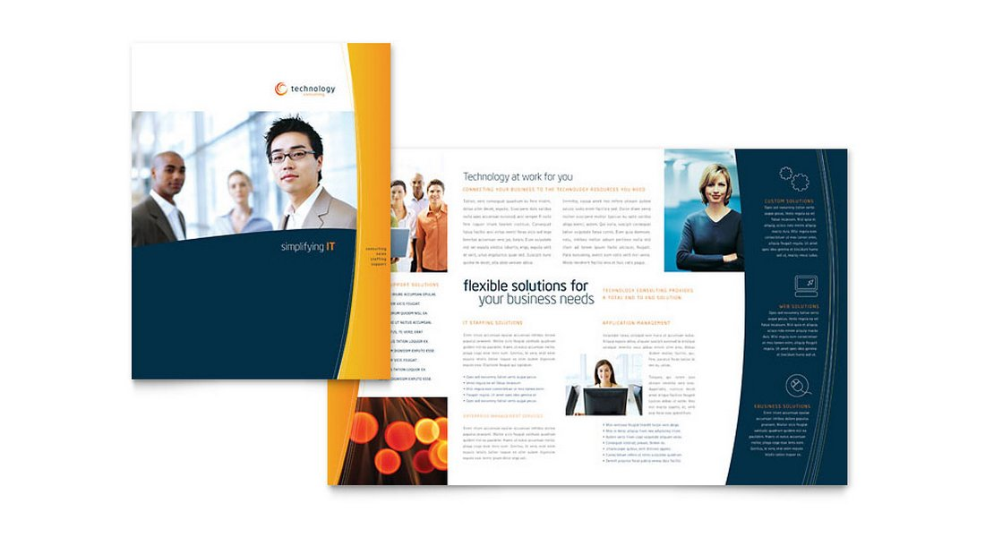 Free Company Brochure Template for Word