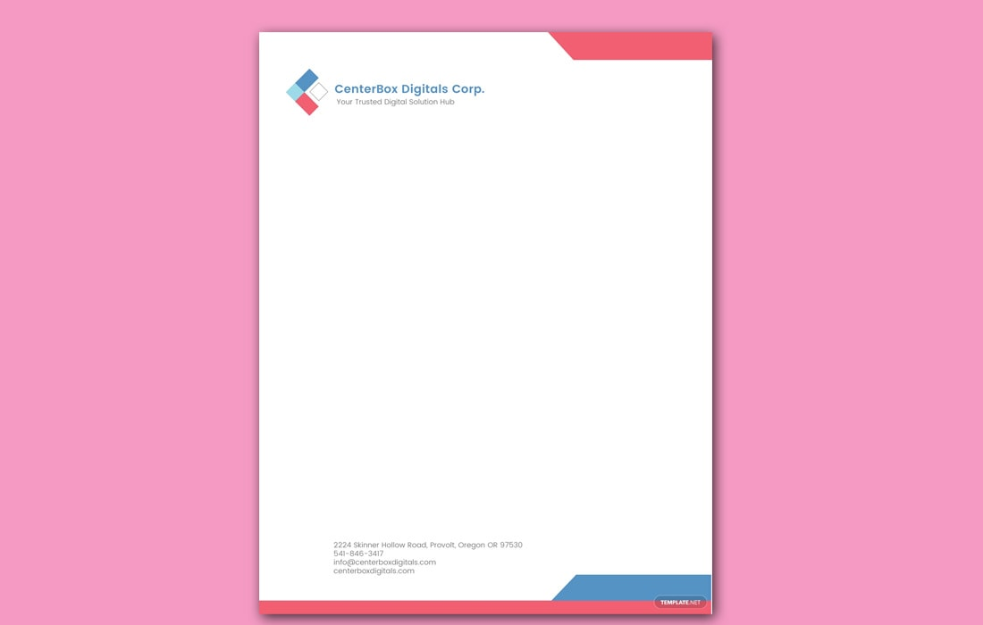 Free Company Letterhead Template Download from designshack.net