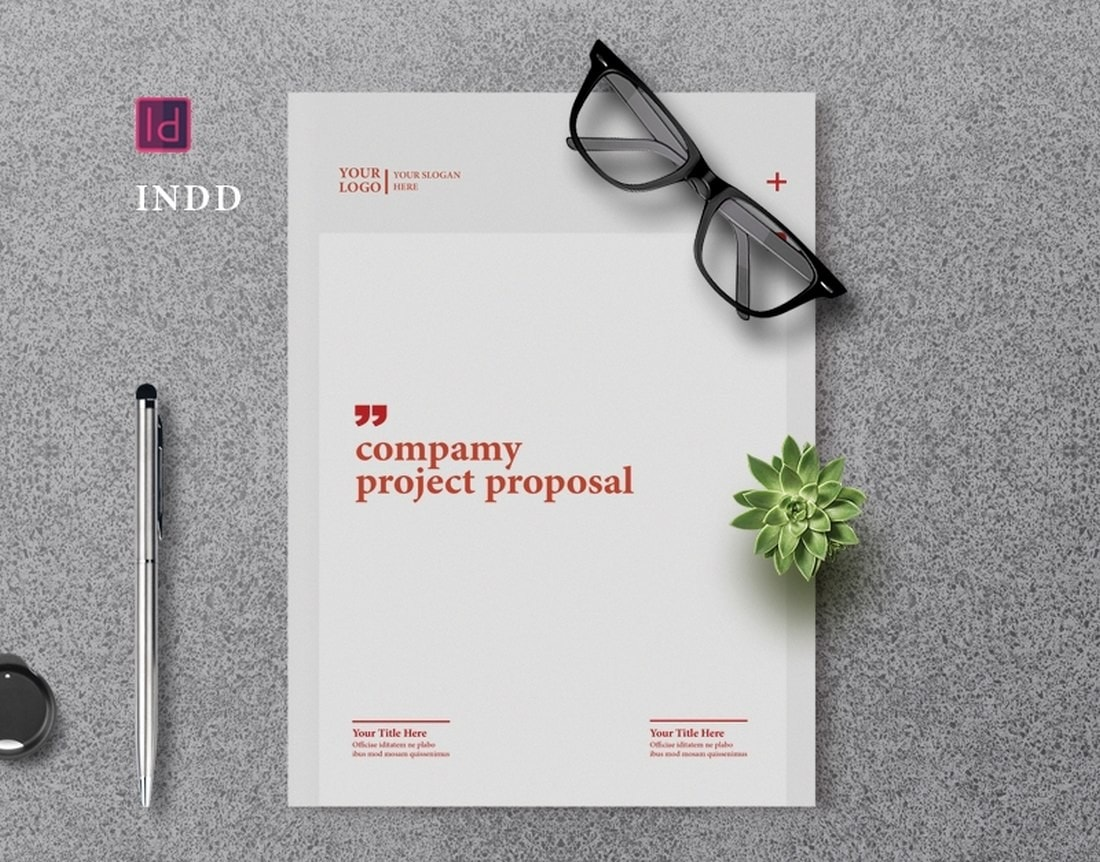 Free Company Project Proposal Brochure