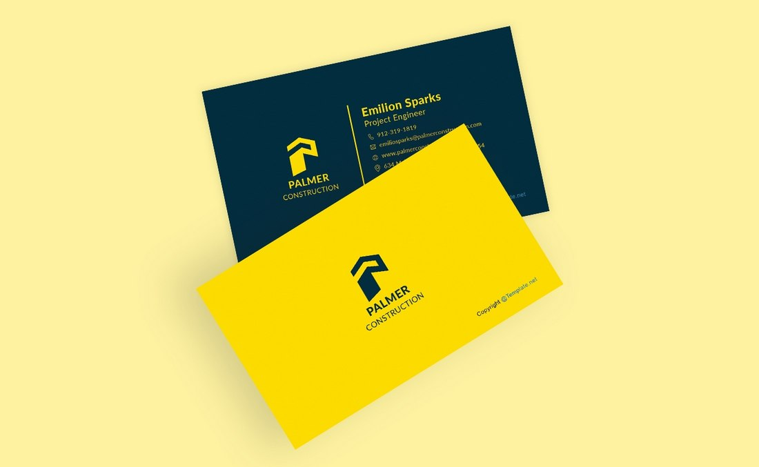 Free-Construction-Business-Card-Template 20+ Business Card Templates for Google Docs (Free & Premium) design tips