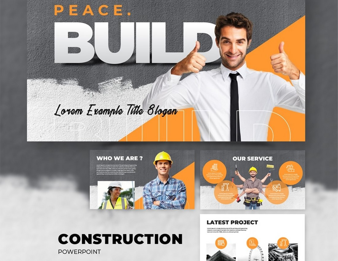 Free Construction & Real Estate PowerPoint Template