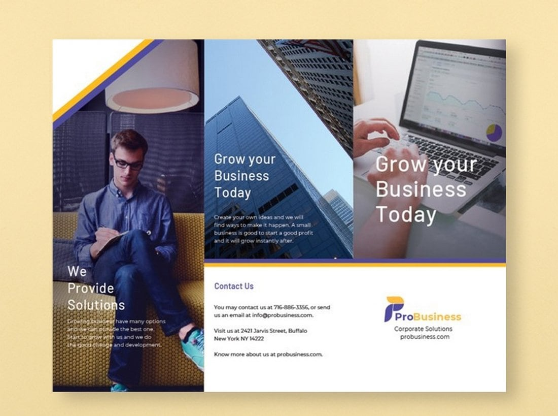 Free-Corporate-Business-Brochure-Template-1 40+ Best Microsoft Word Brochure Templates 2020 design tips  Inspiration|brochure|templates