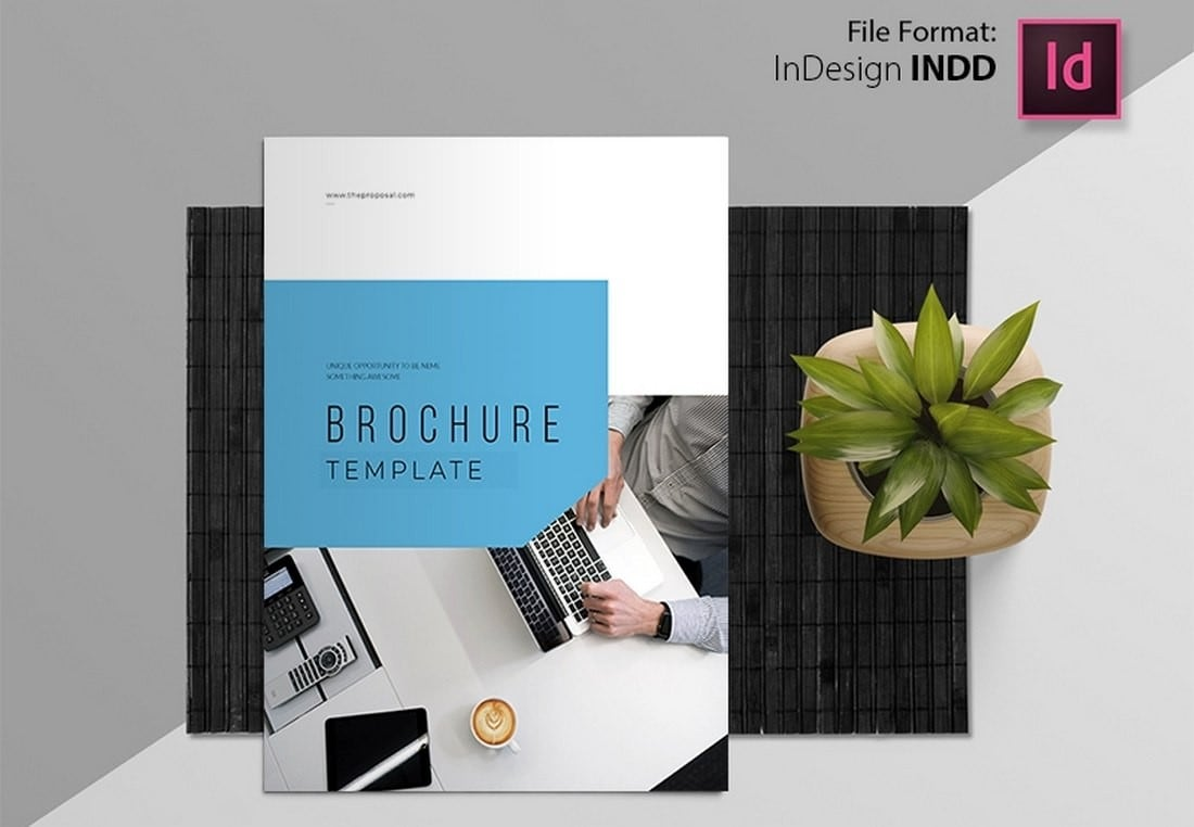 Free-Corporate-Business-Brochure-Template-2 50+ Annual Report Templates (Word & InDesign) 2021 design tips