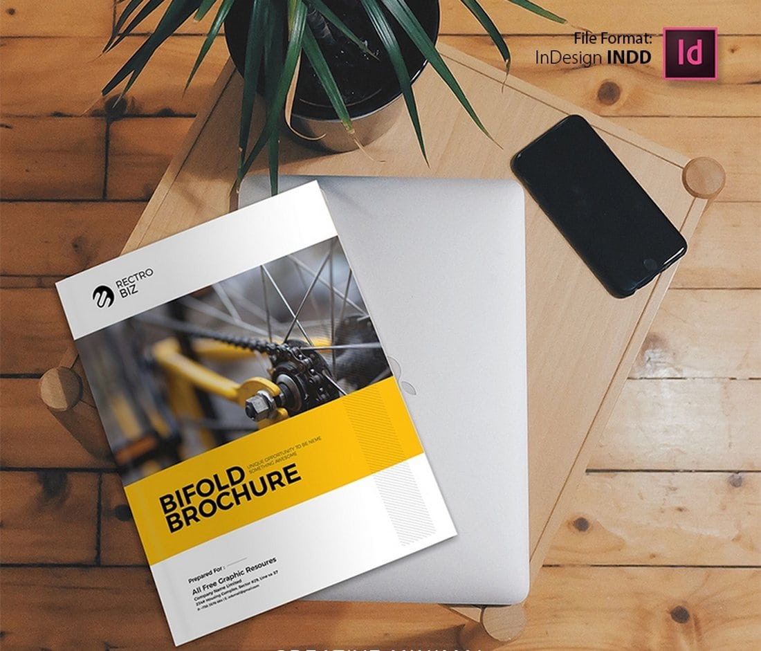 Free-Corporate-Business-Brochure-Template 50+ Annual Report Templates (Word & InDesign) 2021 design tips