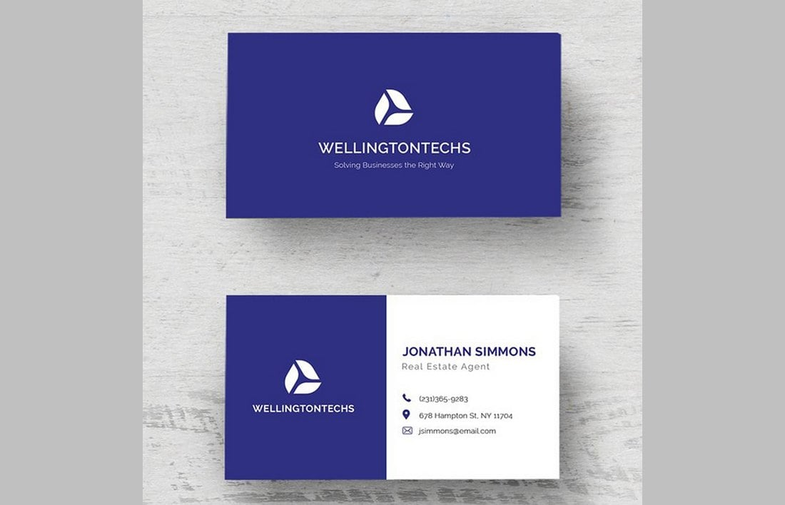 Free-Corporate-Business-Card-Template 20+ Business Card Templates for Google Docs (Free & Premium) design tips