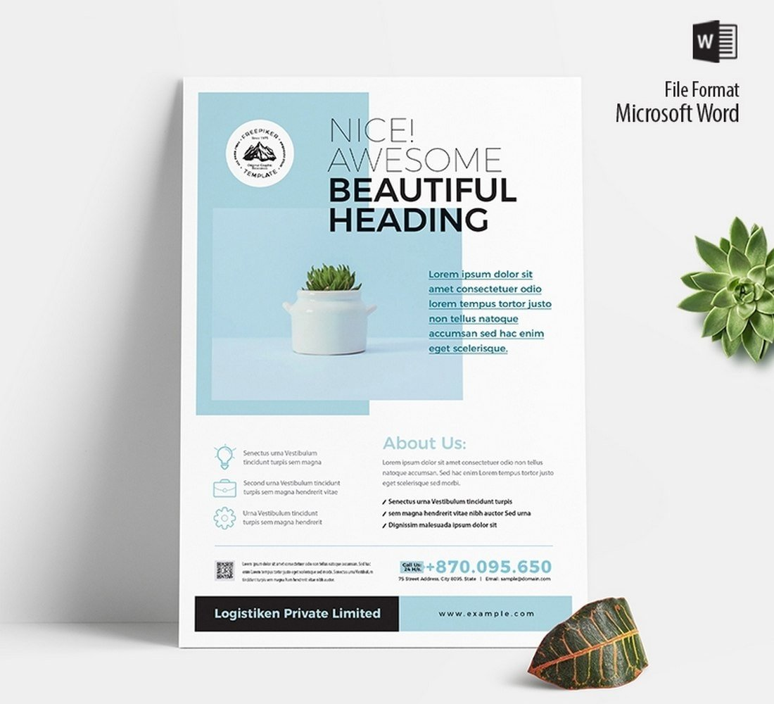 Free-Corporate-Flyer-Brochure-Template 20+ Free Brochure Templates for Word (Tri-Fold, Half Fold & More) design tips
