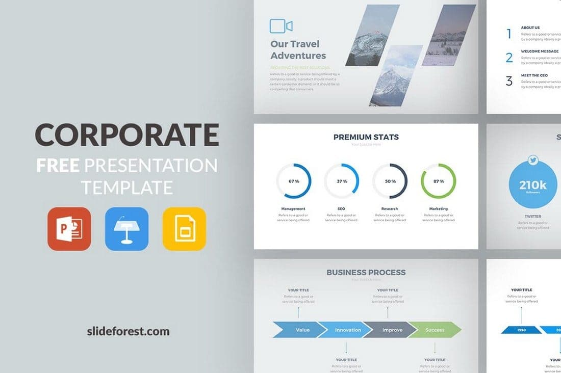 Free Corporate Google Slides Template