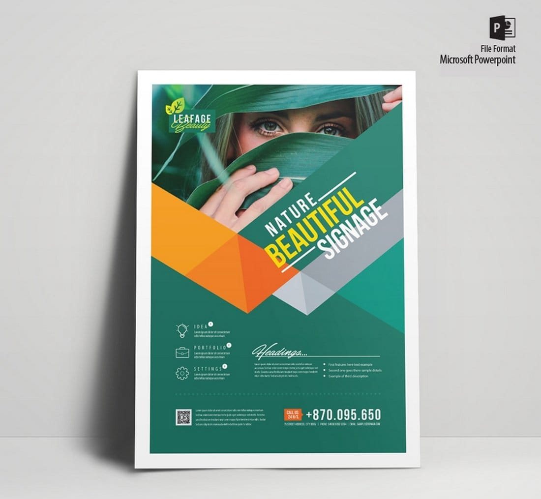 Free Corporate Green Flyer Poster Template