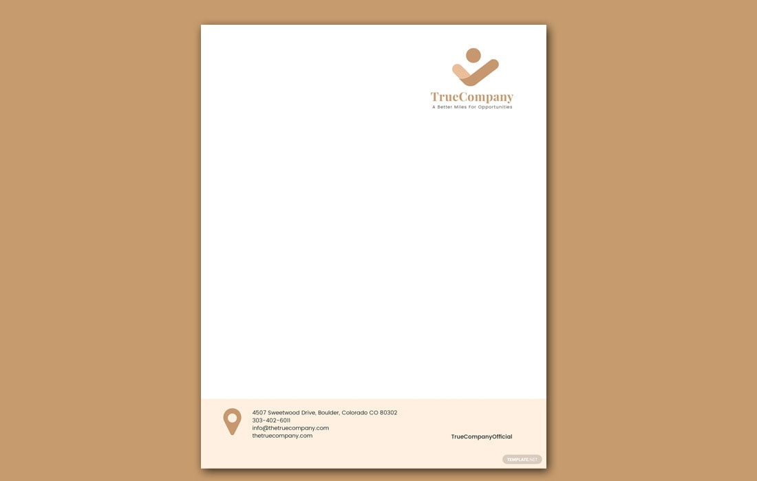 Free Corporate Letterhead Template