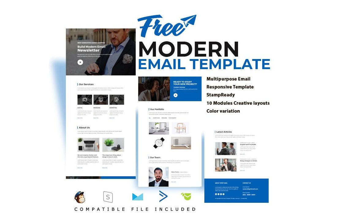 Free Corproate Email Template for MailChimp