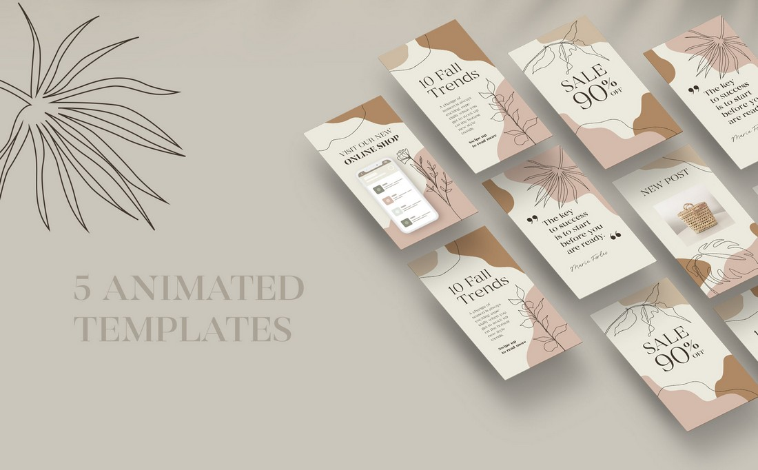 Free Creative Animated Instagram Story Templates