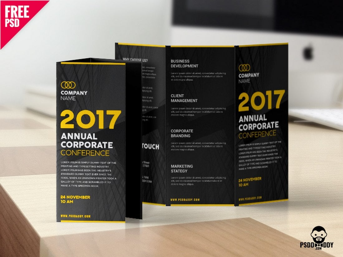 Free Creative Corporate Tri-Fold Brochure