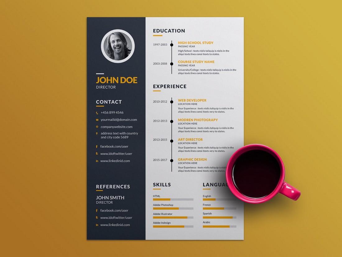 Free Creative Resume Template (EPS)