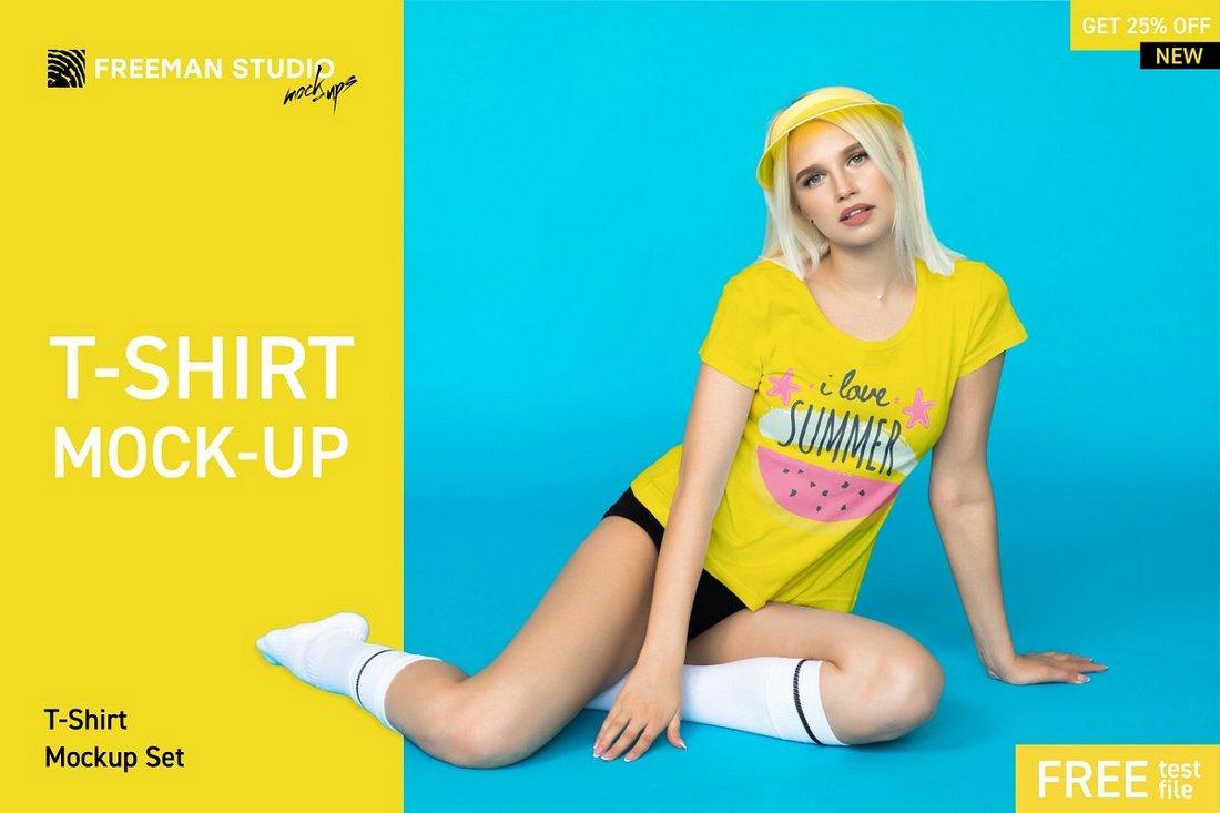 Free Creative T-Shirt Mockup PSD