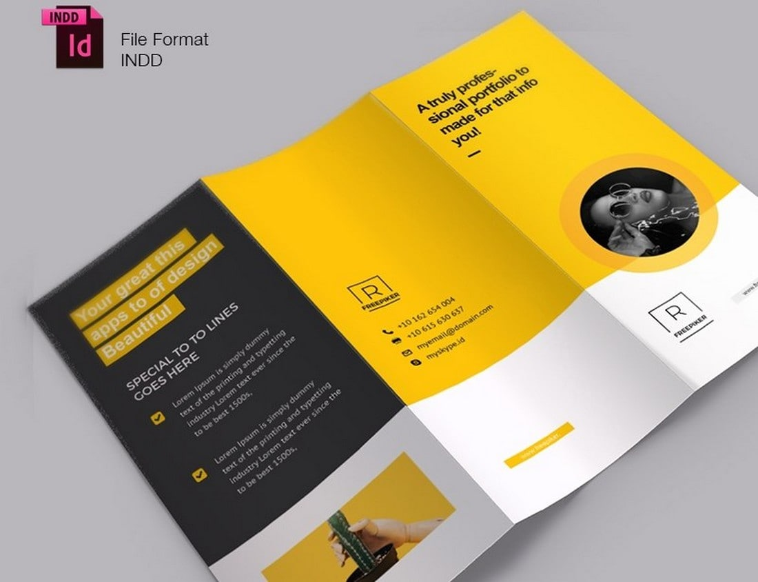 Free Creative Trifold Brochure Template