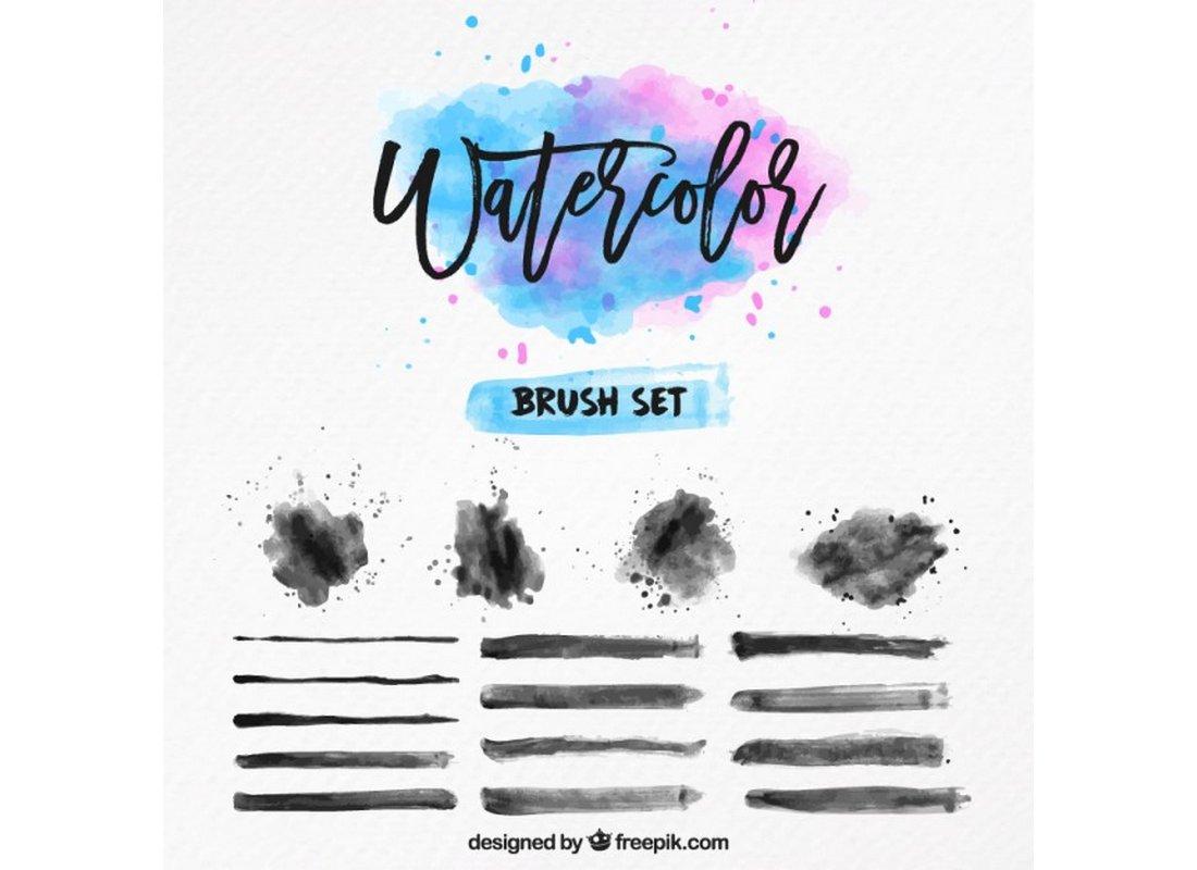 Free-Creative-Watercolor-Illustrator-Brush-Set 25+ Best Free Adobe Illustrator Brushes 2021 design tips