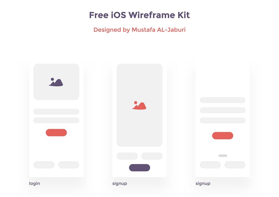 Free Creative iOS Wireframe Kit