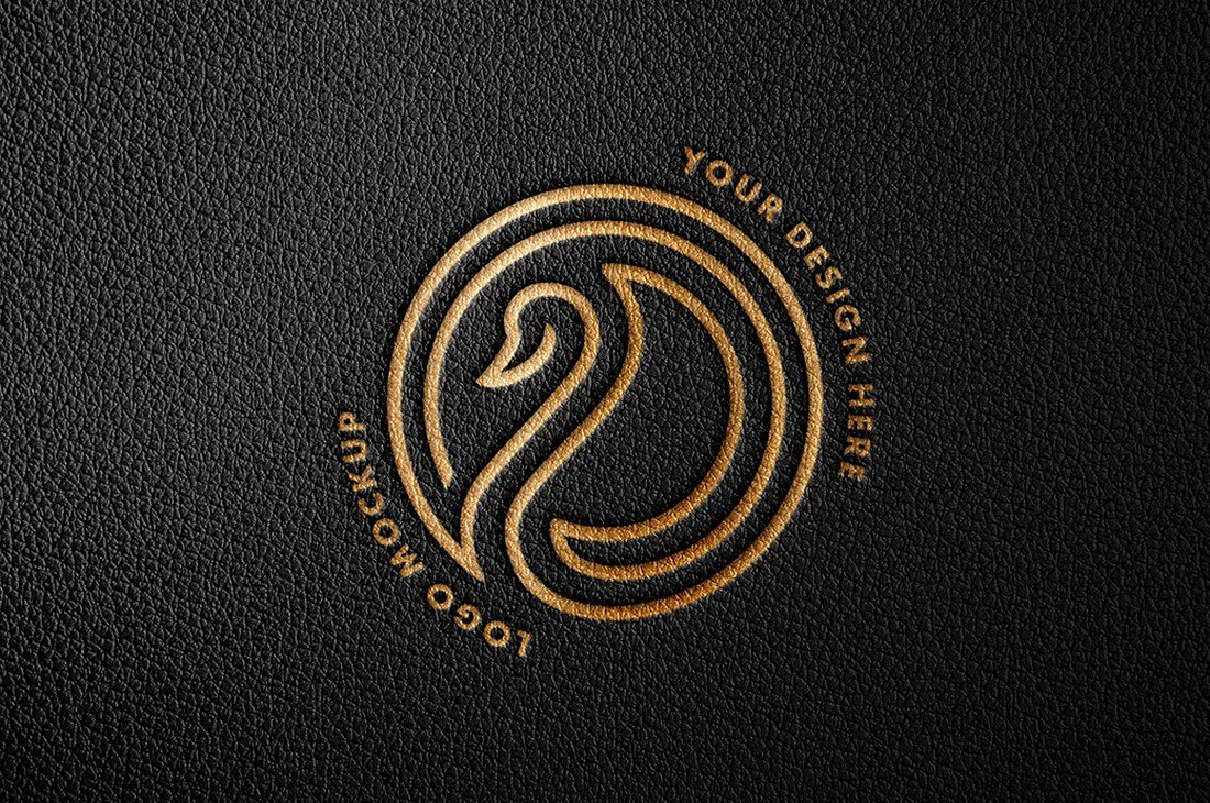 Free Debossed Foil Logo Mockup