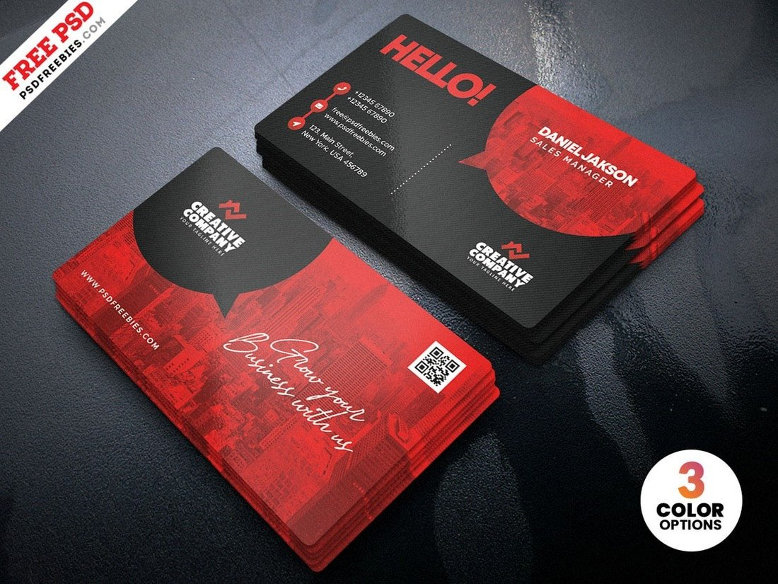 21+ Best Free Business Card Templates (Fully Printable)  Design Shack With Regard To Name Card Template Psd Free Download
