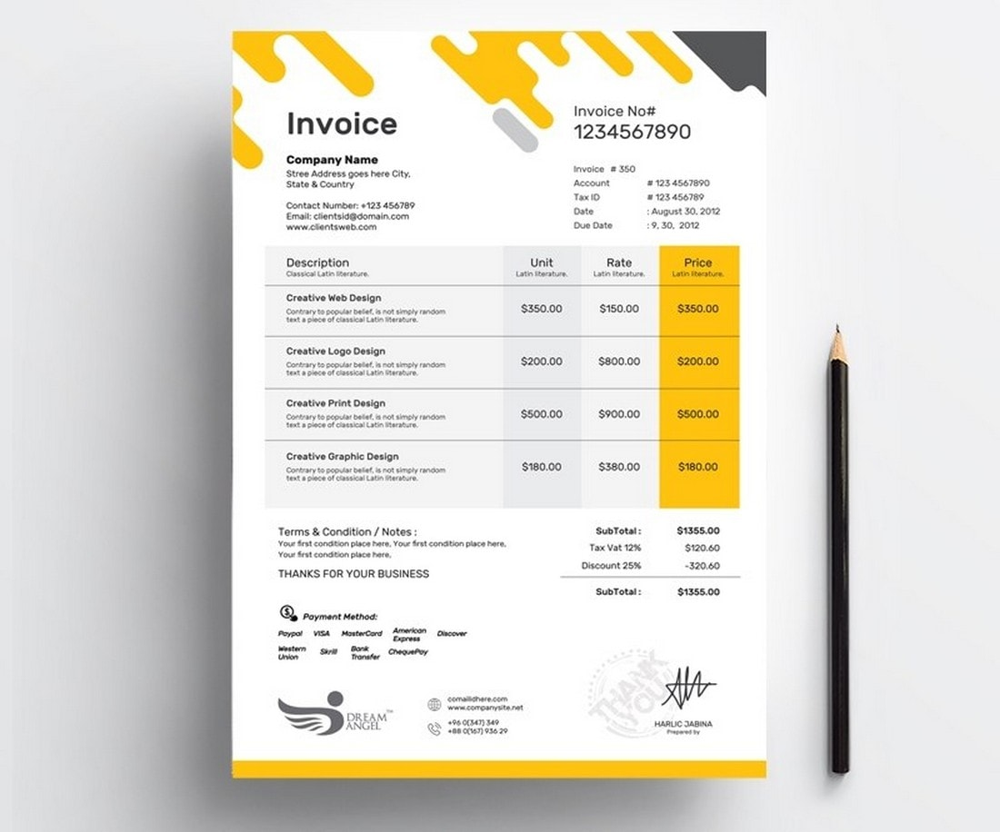 Free-Digital-Agency-Invoice-Template 20+ Best Invoice Templates for InDesign & Illustrator (Free + Premium) design tips