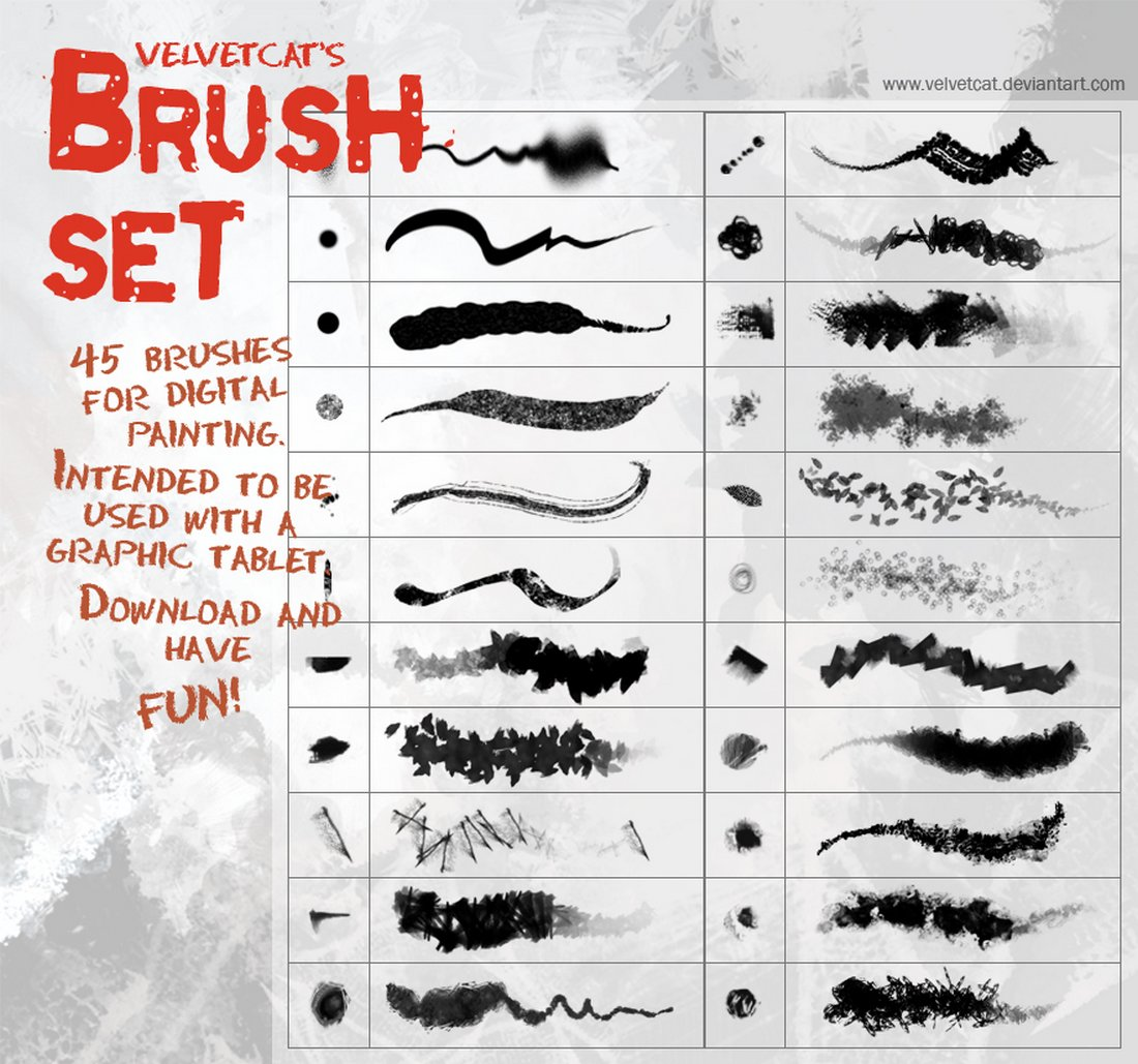Free Digital Painting Brush Set