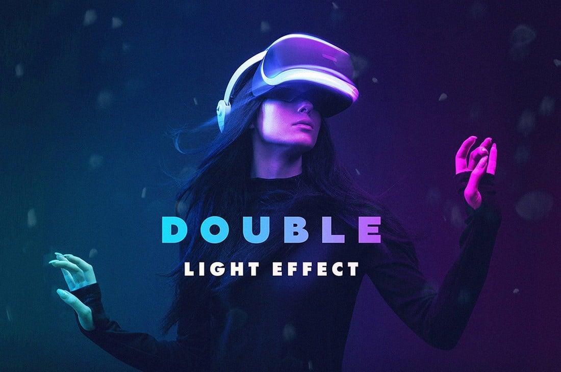 Free Double Light Photoshop Effect