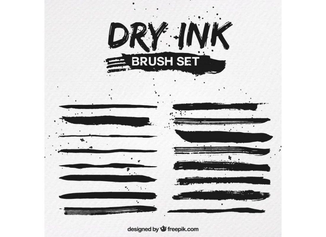 Free-Dry-Ink-Illustrator-Brushes 25+ Best Free Adobe Illustrator Brushes 2021 design tips