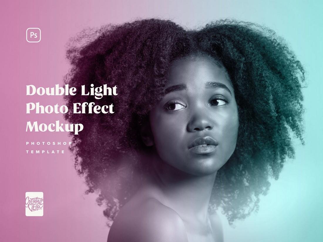 Free Duotone Photo Effect PSD Template