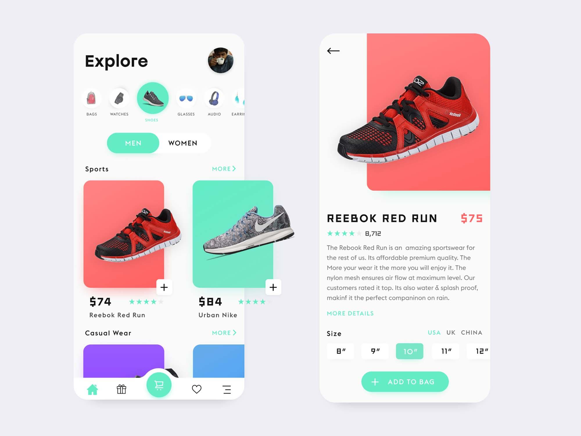 Free E-Commerce App Template